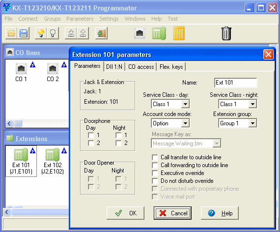 Click to view KX-T123211 Programmator 1.07.2 screenshot