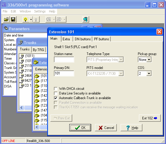 Click to view KX-T336/TD500 Programmator 1.00.14 screenshot