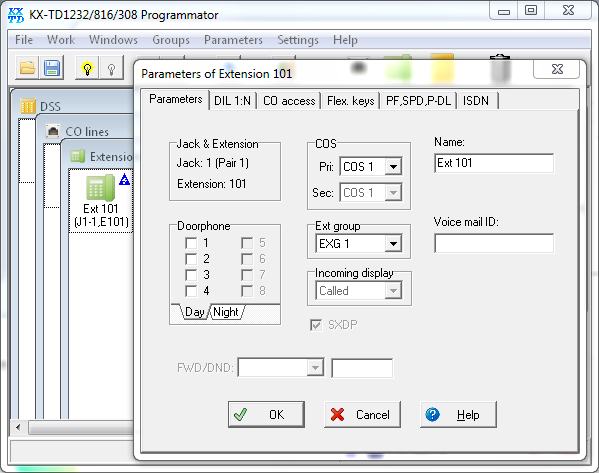 Click to view KX-TD Programmator 1.31.4 screenshot