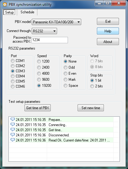 Click to view PbxSync 1.0.2 screenshot